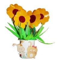 Fleurs en carton récup