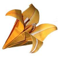 Fleur de lys origami