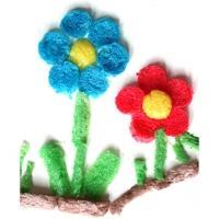 Fleur ronde en PlayMais à plat