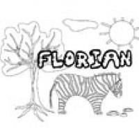 Florian, coloriages Florian