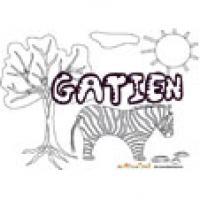 Gatien, coloriages Gatien