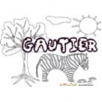 Gautier, coloriages Gautier