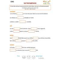 Exercices de grammaire CM1