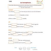 Classes De Mots Cm2 Exercices Corrigés Grammaire