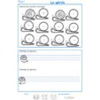 Activités et exercices de soutien scolaire en graphisme maternelle