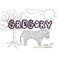 Gregory, coloriages Gregory