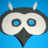 Masque Hibou Un Masque Pour Le Déguisement Tête à Modeler