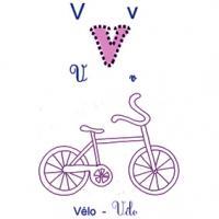 Imagier lettre V de vélo