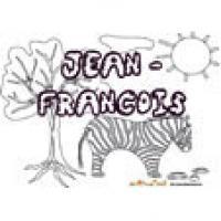Jean-François, coloriages Jean-François