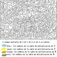 coloriage numerote
