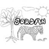 Jordan, coloriages Jordan
