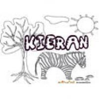Kieran, coloriages Kieran