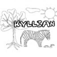 Kyllian, coloriages Kyllian