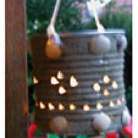 Lampion rustique pour illuminer les soirées d'été