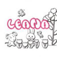 Leana, coloriages Leana