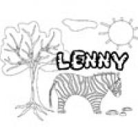 Lenny, coloriages Lenny
