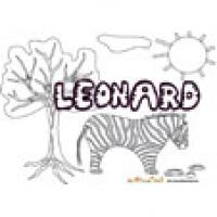 Leonard, coloriages Leonard