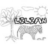 Lilian, coloriages Lilian
