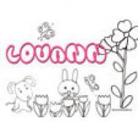 Louann, coloriages Louann