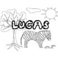 Lucas, coloriages Lucas