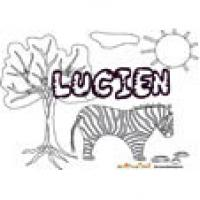 Lucien, coloriages Lucien
