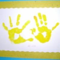 Explications pour conserver l'empreinte mains des enfant