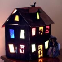 Explications de réalisation d'une maison hantée appaier de soie