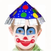 Maquillage clown joyeux