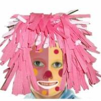 Maquillage de clown bicolore