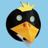 Bricolage d'un masque de corbeau en 3 D