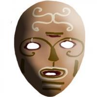 Masque primitif peint