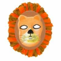 Masque de lion à la crinière en papier crépon