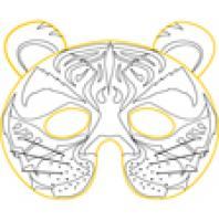 Coloriages de masques d'animaux