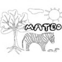 Mateo, coloriage Mateo