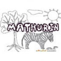 Mathurin, coloriage Mathurin