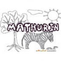 Mathurin, coloriage Mathurin