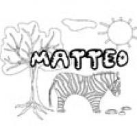 Matteo, coloriage Matteo