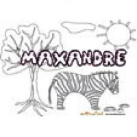 Maxandre, coloriages Maxandre