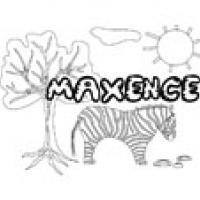 Maxence, coloriages Maxence