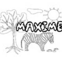 Maxime, coloriages Maxime