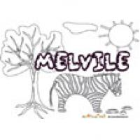 Melvile, coloriages Melvile