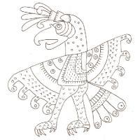 oiseau art mexicain