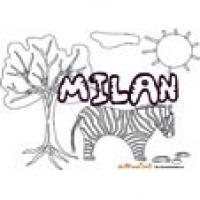 Milan, coloriages Milan