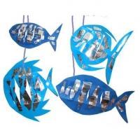 Mobile de décoration : poissons bleus