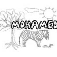 Mohamed, coloriages Mohamed