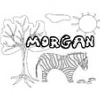 Morgan, coloriages Morgan