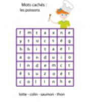 Jeux de mots cachés sur le vocabulaire du poisson