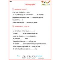 Exercices d'orthographe CE2