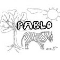 Pablo, coloriages Pablo
