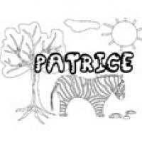 Patrice, coloriages Patrice